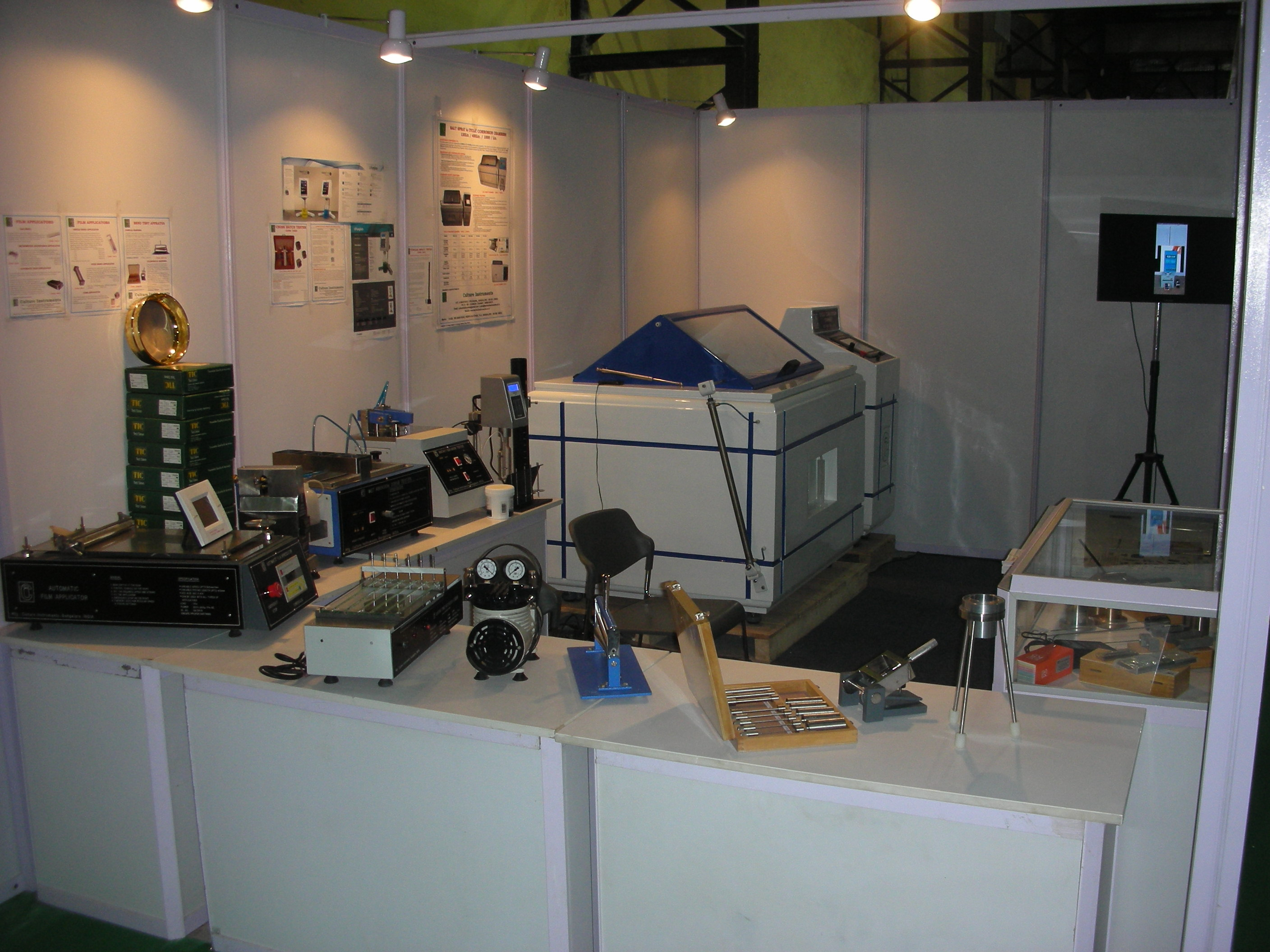 Exhibition Stall Tds : Techno instruments company news media