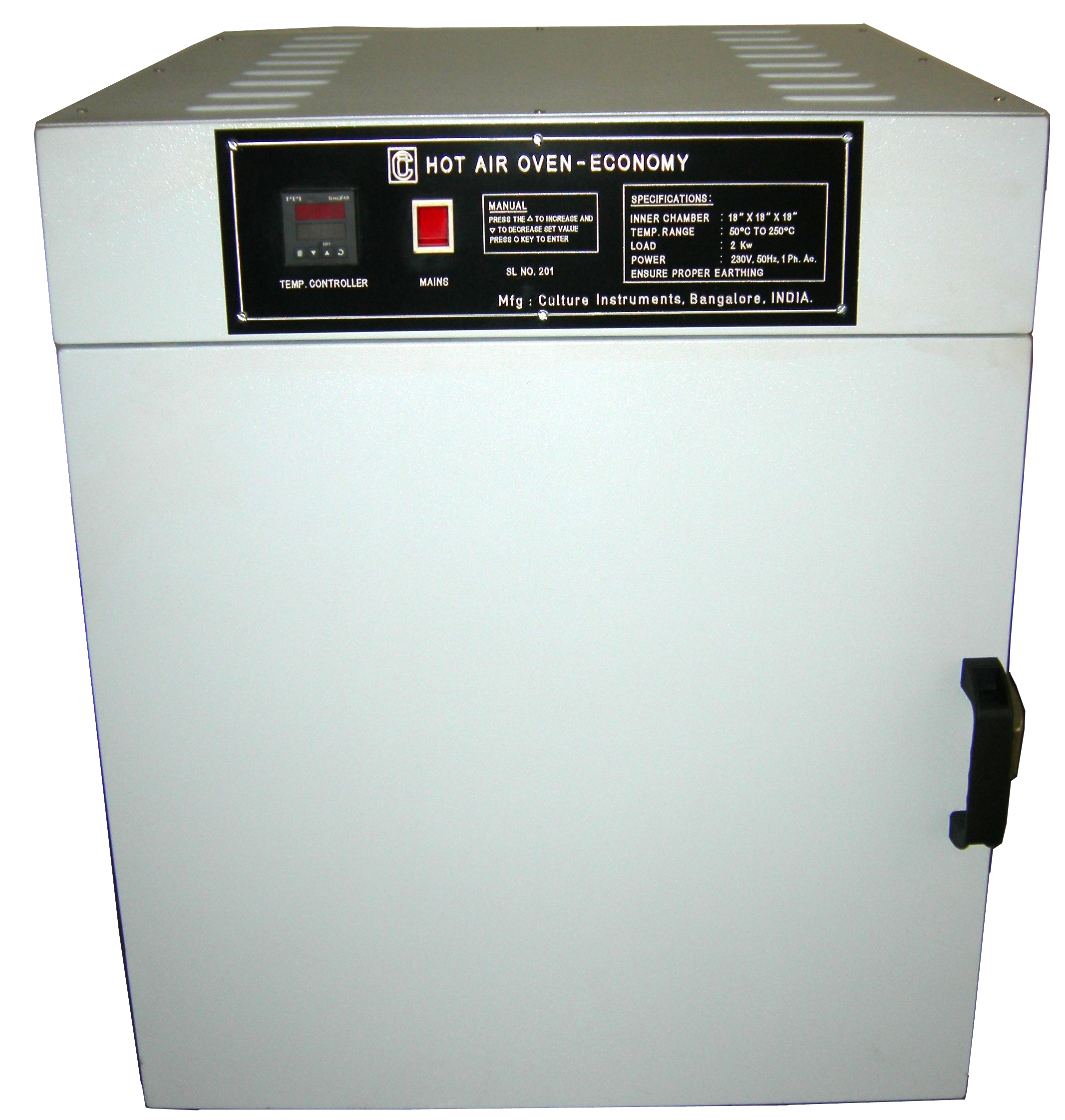 Hot Air Oven ~ Techno instruments company products
